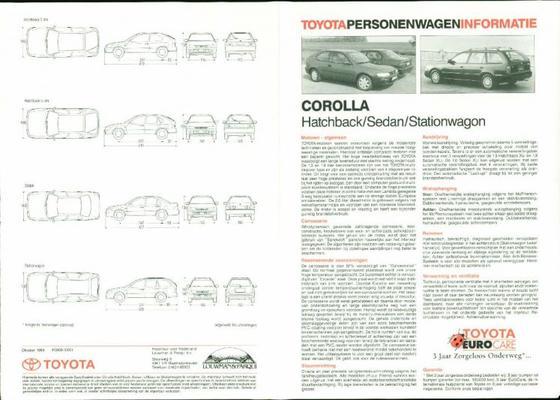 Toyota Corolla Xl,gl,diesel,1.6i,