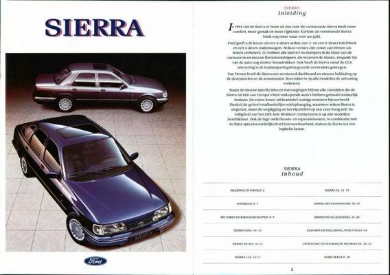 Ford Sierra Cl, Clx, Xr, Ghia