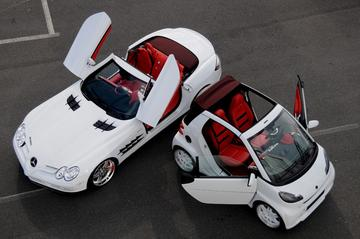 Smart cadeau bij Brabus SLR Roadster