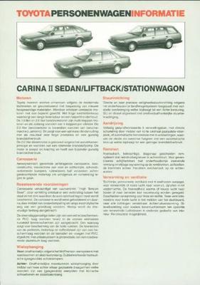 Toyota Carina Ii Sedan,stationwagen,liftback,dl,xl