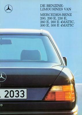 Mercedes-benz Limousines 200,200e,230e,260e,260e4m