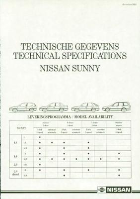 Nissan Sunny L,lx,slx