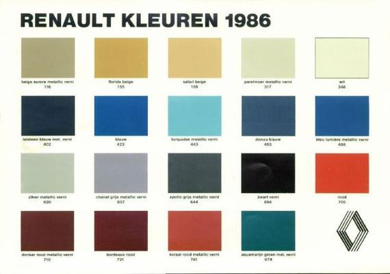 Brochure Renault Kleurenkaart - AutoWeek.nl
