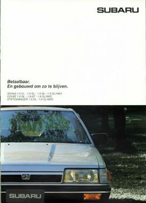Subaru Sedan,coupe,stationwagen Dl,gl,gl 4wd,gt