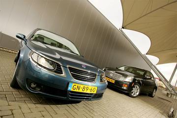 Saab 9-5 Sport Sedan 2.3t Vector Automaat – Cadillac CTS 2.8 Sport Luxury Automa