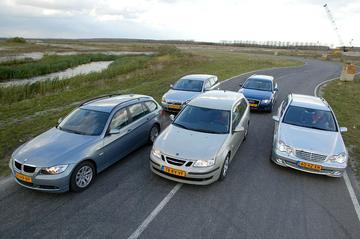 Saab 9-3 Sport Estate 1.9 TiD / BMW 320d Touring / Audi A4 Avant 2.0 TDI / Merce
