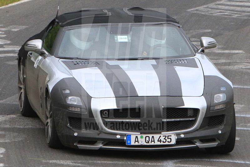 Mercedes SLS AMG Roadster op Ring
