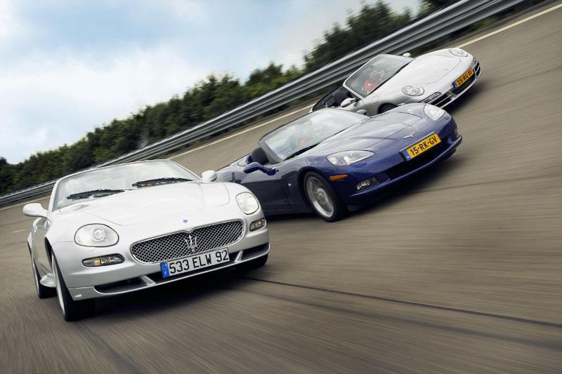 Corvette C6 Convertible / Maserati Spyder 90th Anniversary / Porsche 911 Carrera