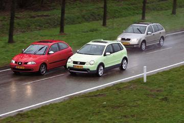 Volkswagen Polo Fun 1.4 16V 75 pk – Seat Ibiza 1.8 20VT FR – Skoda Fabia Combi E