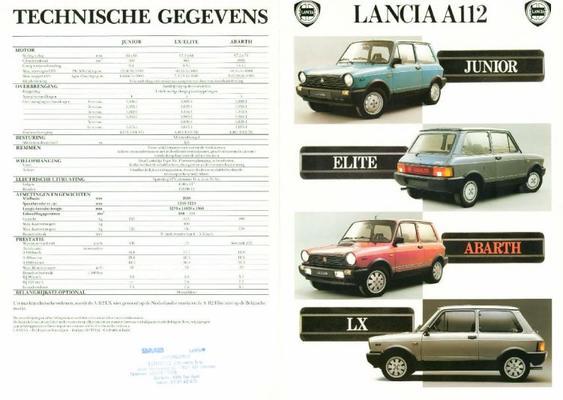 Lancia A112 Junior,elite,abarth,lx