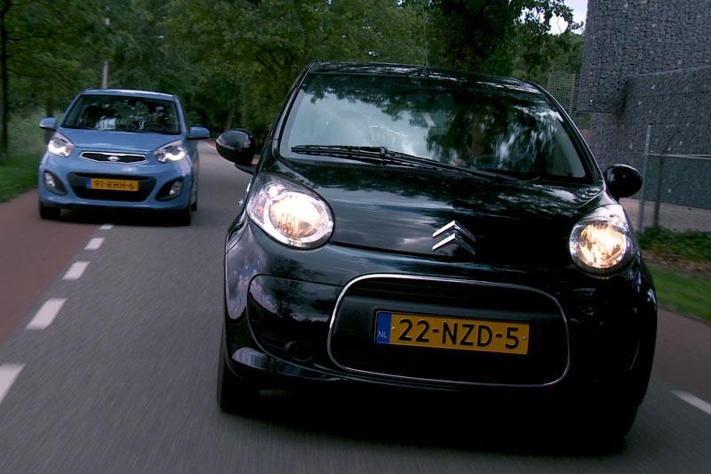 Dubbeltest Citroën C1 vs. Kia Picanto