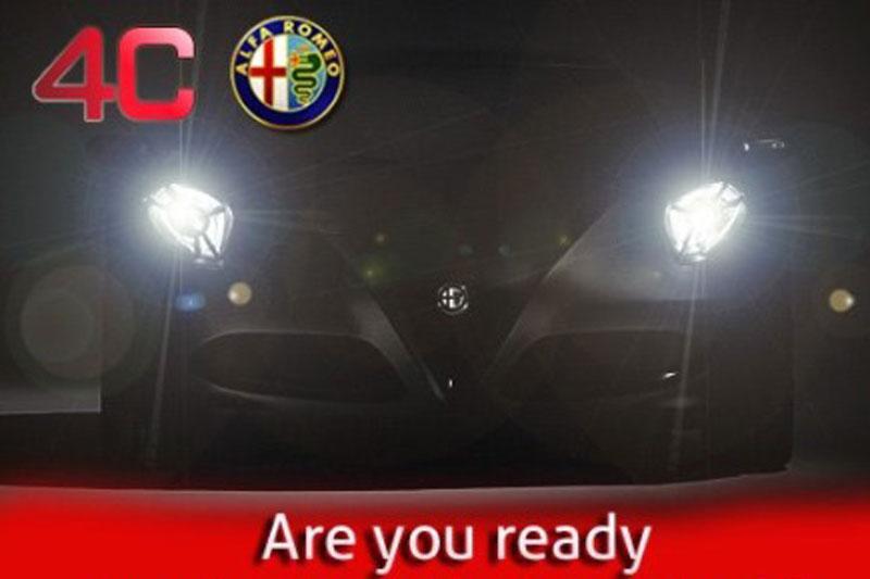 Teaser: Alfa Romeo 4C trekt nieuwe jas aan