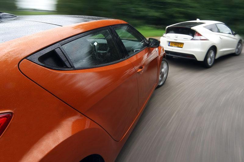 Dubbeltest Honda CR-Z vs. Hyundai Veloster