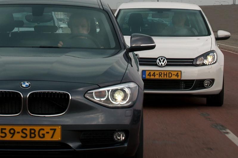 Dubbeltest Volkswagen Golf vs. BMW 1-serie