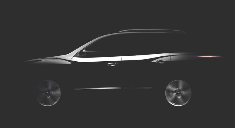 Zicht op Nissan Pathfinder