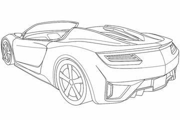 Patentschetsen van de nieuwe Honda NSX als cabrio
