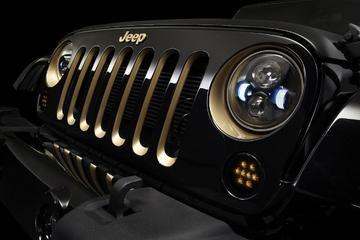 Draak van Jeep op de Autoshow van Peking