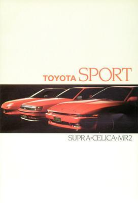 Brochure Toyota Supra, Celica & MR2 1987