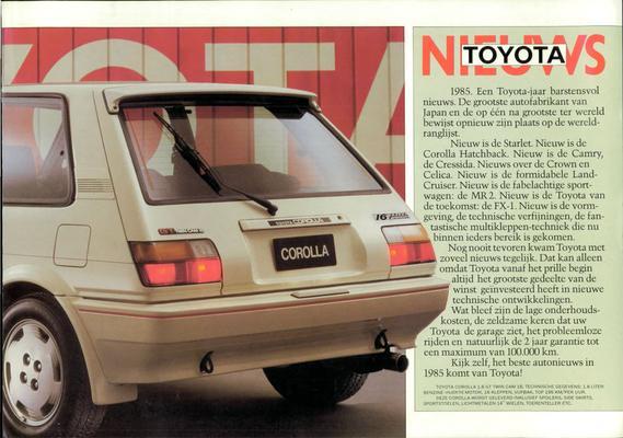 Brochure Toyota 1985