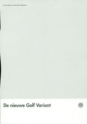 Brochure Volkswagen Golf 1993