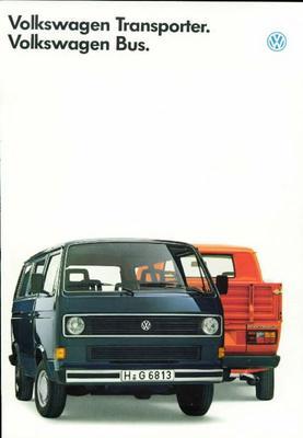 Brochure Volkswagen Transporter 1986