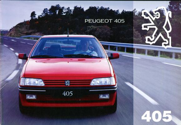 Brochure Peugeot 405 1994