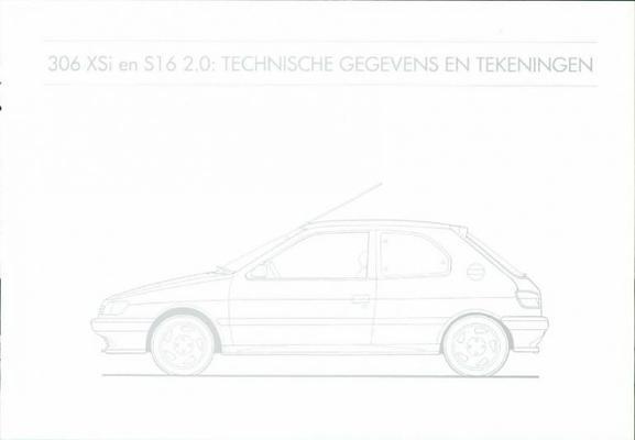 Peugeot 306 XSi en S16 2.0 technische gegevens en