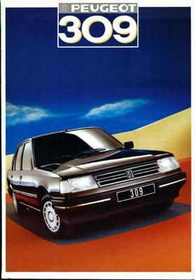 Brochure Peugeot 309 1986