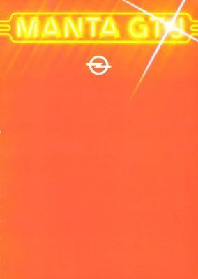 Brochure Opel Manta GT/J 1979