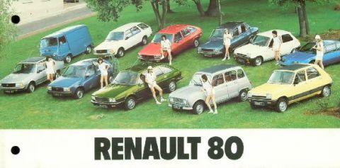 Brochure Renault 1980