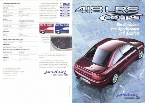 Brochure Proton Coupé 1997