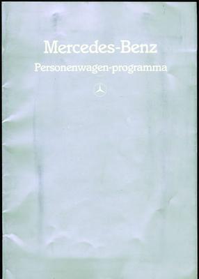 Brochure Mercedes-Benz 1985