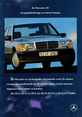 Brochure Mercedes-Benz 190 1988