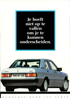 Brochure Mercedes-Benz 190 1990