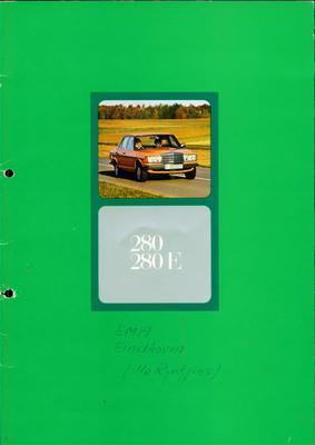Brochure Mercedes 280/280 E 1975