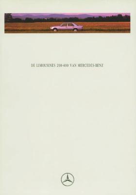 Brochure Mercedes 200-serie 1992