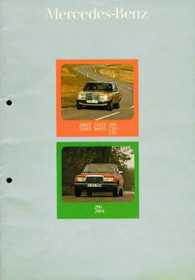 Brochure Mercedes-Benz 200-serie 1975