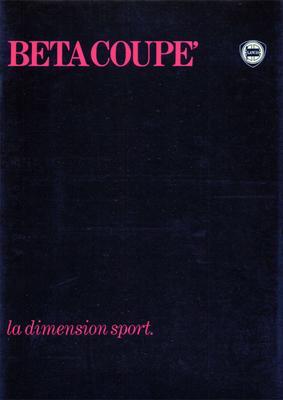 Brochure Lancia Beta Coupé 1979
