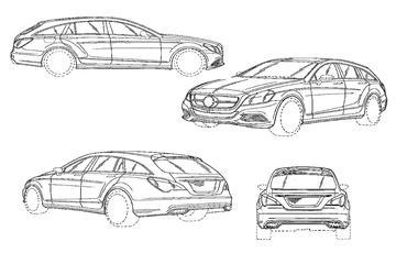 Dit is de Mercedes CLS Shooting Brake - op papier