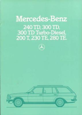 Brochure Mercedes T 1983