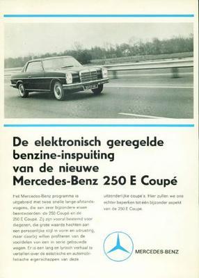 Brochure Mercedes 250 CE
