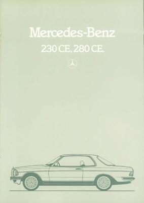 Brochure Mercedes 230 CE / 280 CE