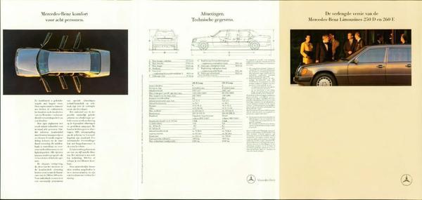 Brochure verlengde Mercedes 260 E en 250 D