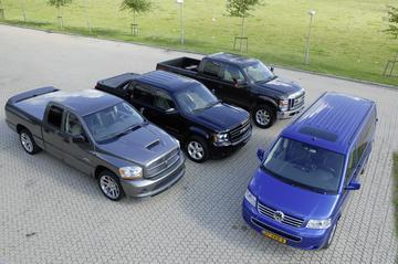 Chevrolet Avalanche-Dodge RAM-Ford F250-Volkswagen Transporter