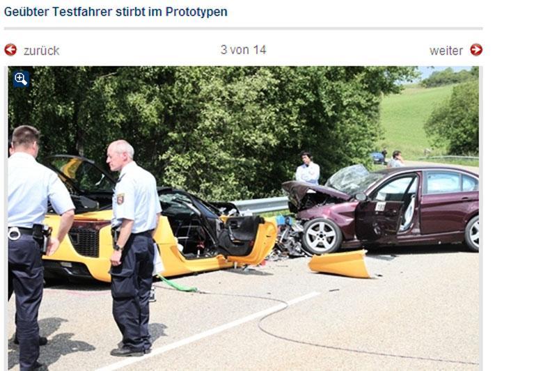 De fatale crash in de buurt van de Ring