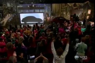 VW New Beetle-plagerij bij Oprah's Give-Away