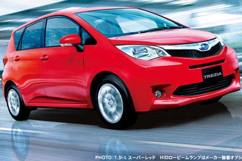 Subaru Trezia is Verso-S, maar dan anders