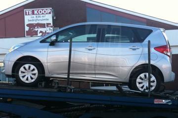 Subaru Trezia ongecamoufleerd in Nederland