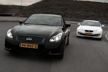 Dubbeltest Hyundai Genesis Coupé vs. Infiniti G37