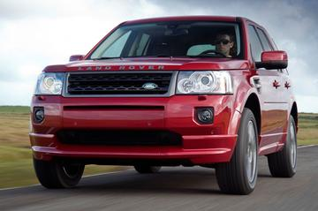 Land Rover Freelander in sportkledij